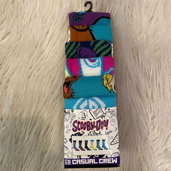 Scooby Doo 6 pack casual crew unisex socks